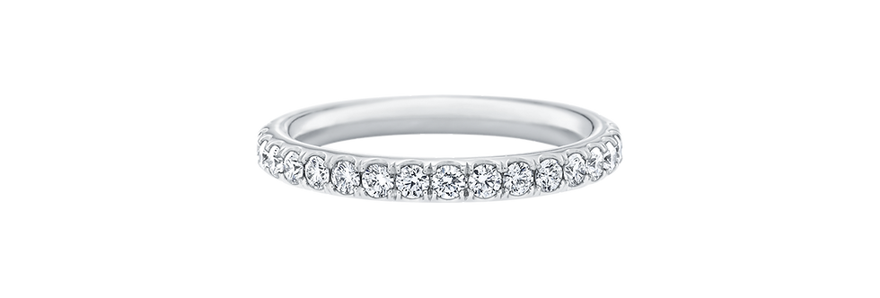 Micropavé Diamond Large Wedding Band