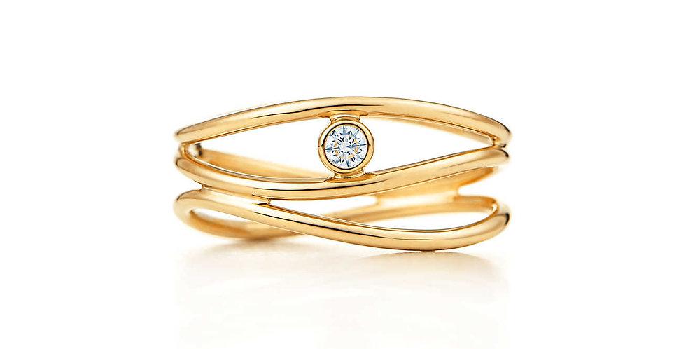 ELSA PERETTI® WAVE Three-Row Diamond Ring