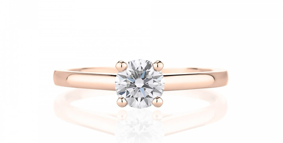 DB CLASSIC PINK GOLD SOLITAIRE RING