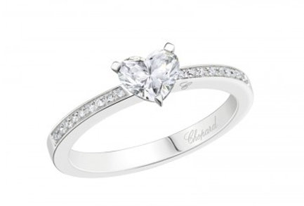 CHOPARD FOR EVER RING PAVÉ Heart Shape 0.5 ct.