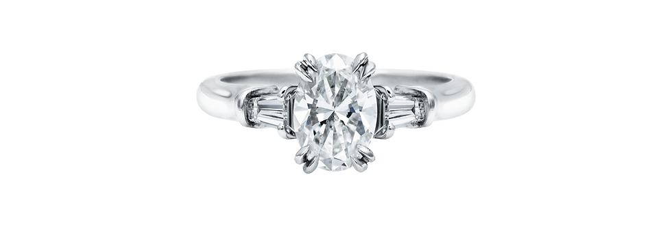 Classic Winston™, Oval-Shaped Engagement Ring