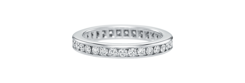 Channel-Set Round Brilliant Diamond Wedding Band