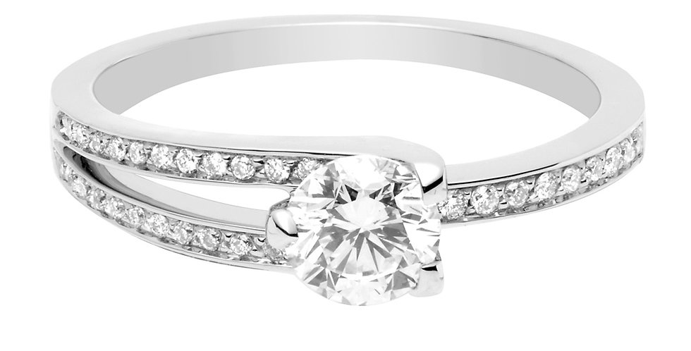 FRED Amour Fou engagement ring 0.50 ct.