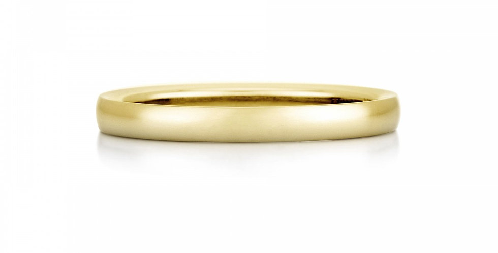 DE BEERS ROUND COURT YELLOW GOLD BAND 2.2MM