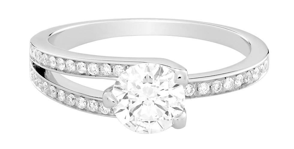 FRED Amour Fou engagement ring 0.70 ct.