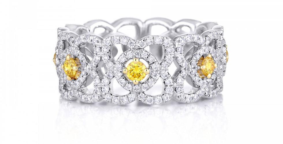 ENCHANTED LOTUS BAND WITH FANCY YELLOW DIAMONDS