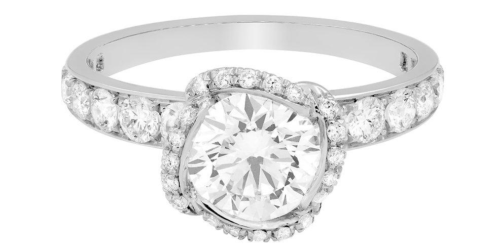 FRED Fleur Céleste engagement ring 1.0 ct.
