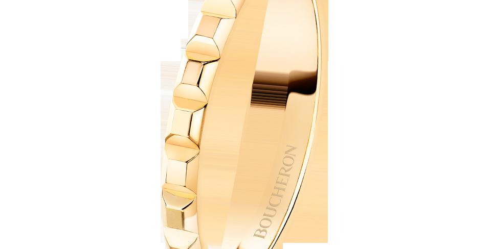 Boucheron Pointe De Diamant Yellow Gold Mini