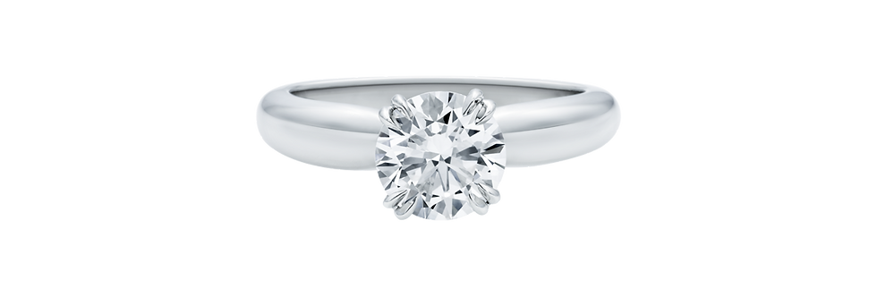 Solitaire, Round Brilliant Diamond Collar