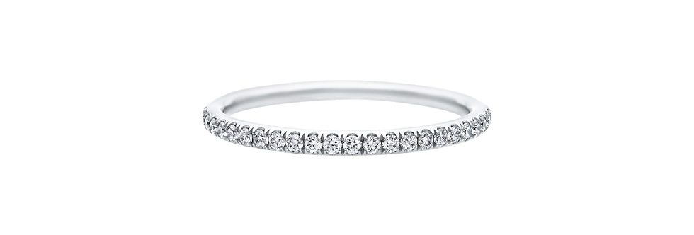 Micropavé Diamond Narrow Wedding Band