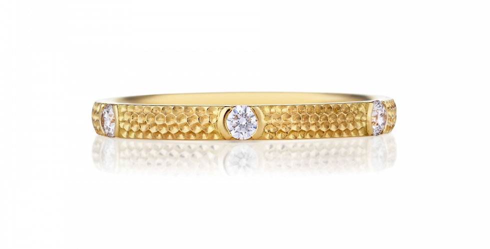 AZULEA 6 DIAMONDS BAND YELLOW GOLD
