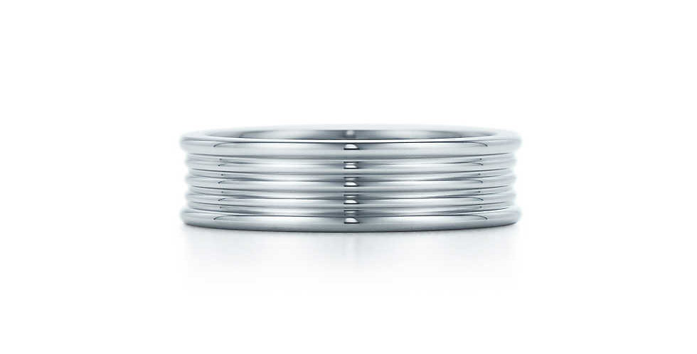 Five-row band ring