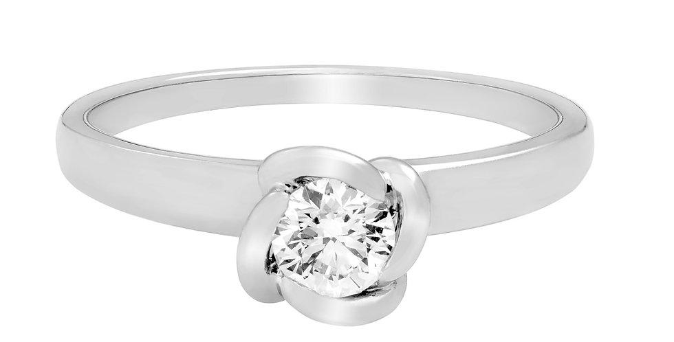 FRED Fleur Céleste engagement ring 0.30 ct.