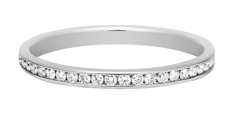 FRED For Love Half Paved Diamonds Wedding Band