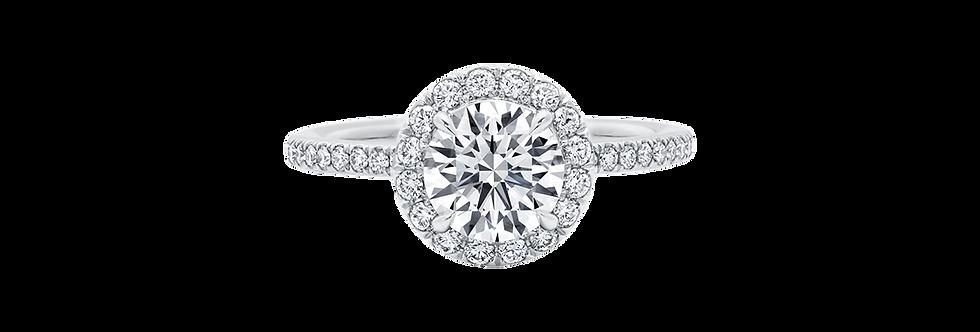 The One, Round Brilliant Diamond Micropavé