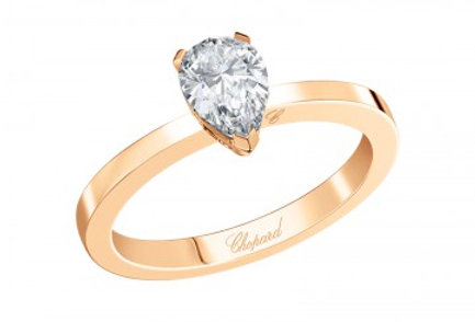 CHOPARD FOR EVER RING Pear Shape 0.7 ct.