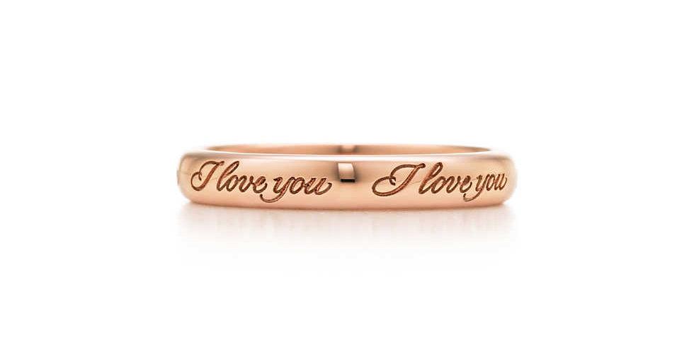 "TIFFANY NOTES® ""I Love You"" Band Ring"