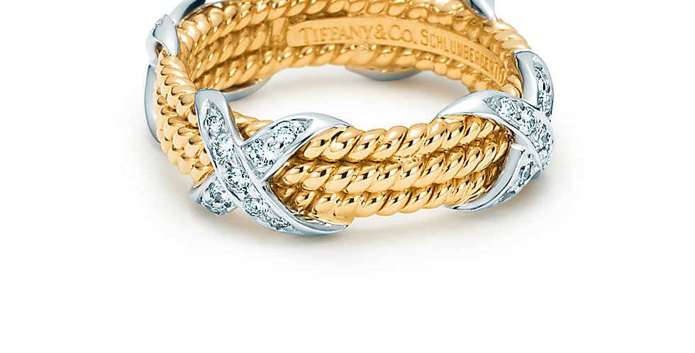 TIFFANY & CO. SCHLUMBERGER® Rope Three-row X Ring
