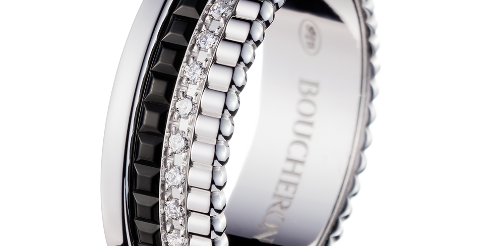 Boucheron Quatre Black Edition Diamond Small Ring