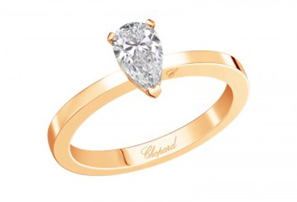 CHOPARD FOR EVER RING Pear Shape 0.5 ct.