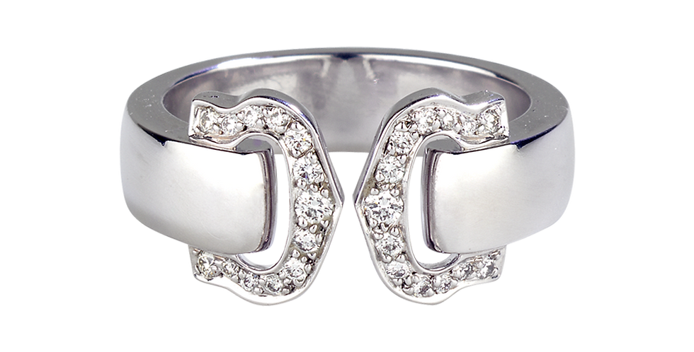 Logo Cartier Double C Decor Ring