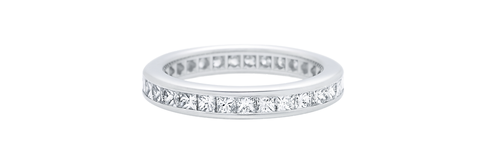 Channel-Set Princess-Cut Diamond Wedding Band