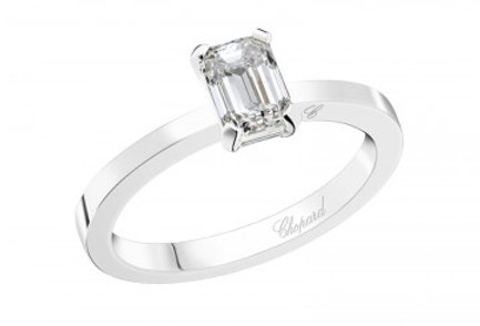 CHOPARD FOR EVER RING Emerald-Cut 0.7 ct.
