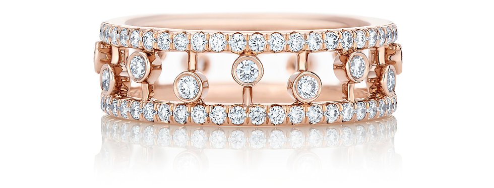 DEWDROP PINK GOLD BAND