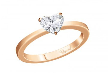 CHOPARD FOR EVER RING Heart Shape 0.5 ct.