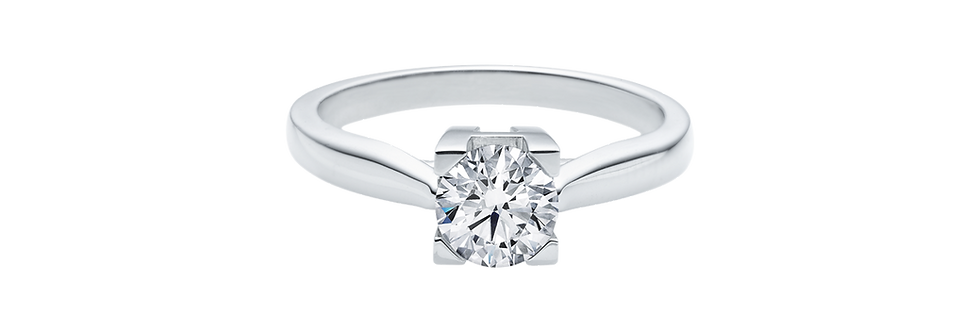 HW Logo, Round Brilliant Diamond Engagement Ring