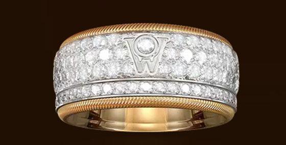 RING GOLDEN DIAMONDKISS