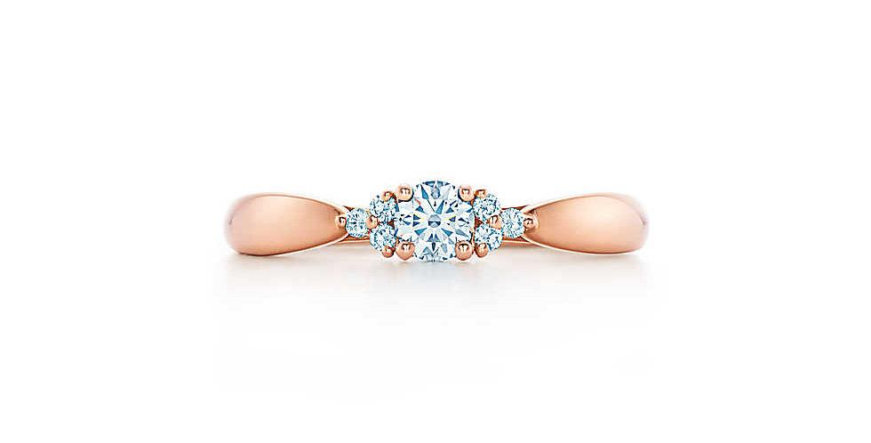 TIFFANY HARMONY Diamond Ring with Side Stones