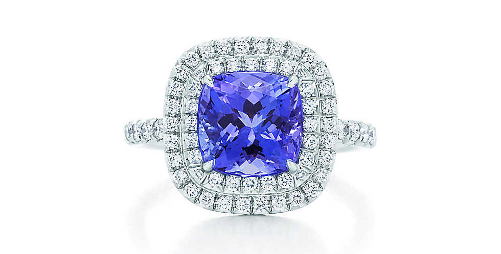TIFFANY SOLESTE® Tanzanite and Diamond Ring