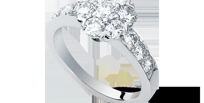 Van Cleef & Arpels Fleurette ring, large model