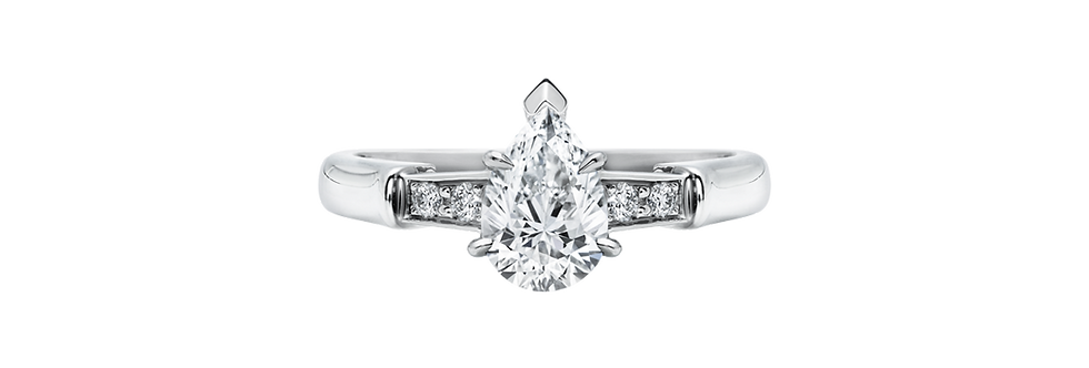 Tryst, Pear-Shaped Diamond Engagement Ring