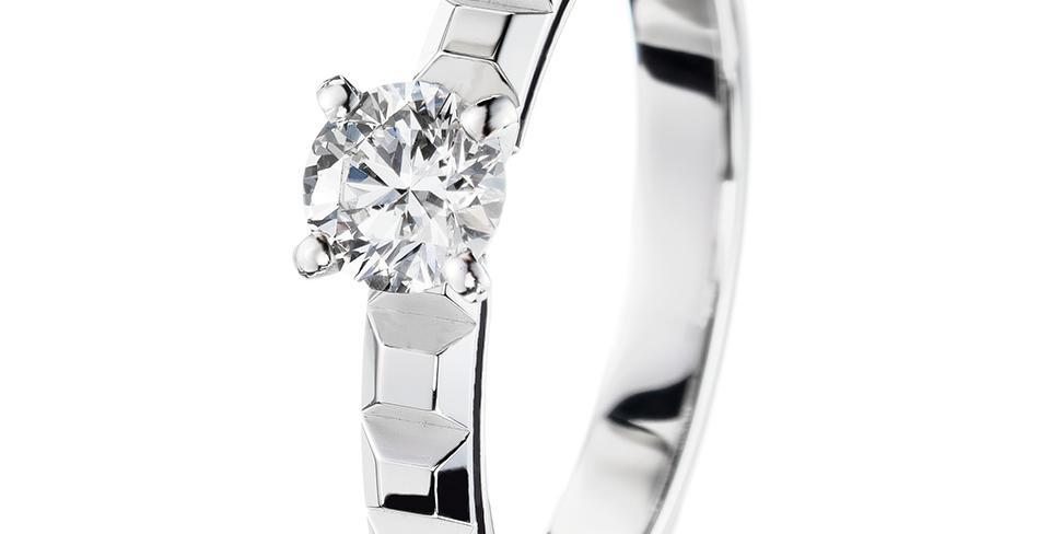 Boucheron Pointe De Diamant Platinum Solitaire