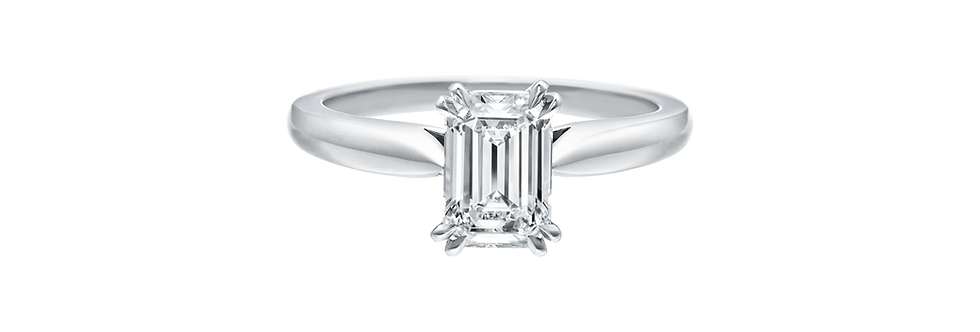 Solitaire, Emerald-Cut Engagement Ring