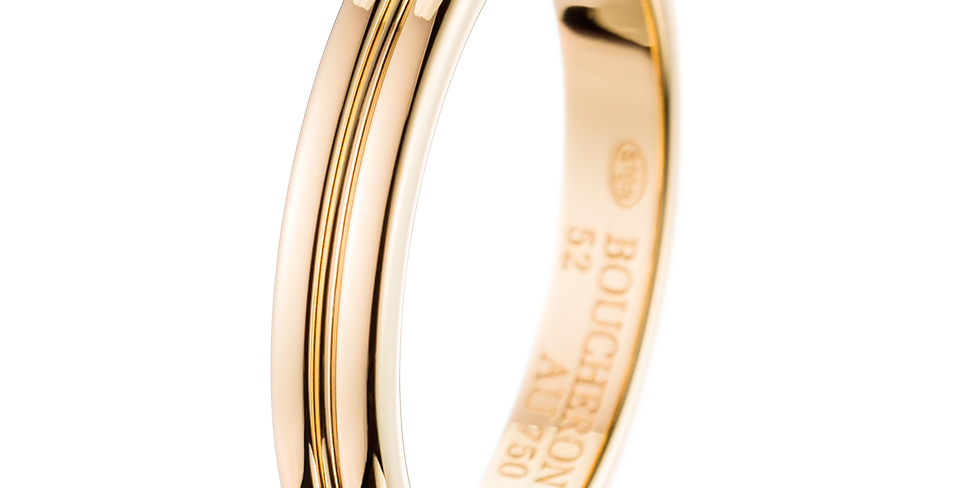 Boucheron Godron Yellow Gold Small Wedding Band