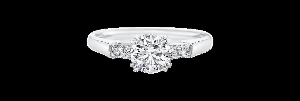 Tryst, Round Brilliant Diamond Engagement Ring