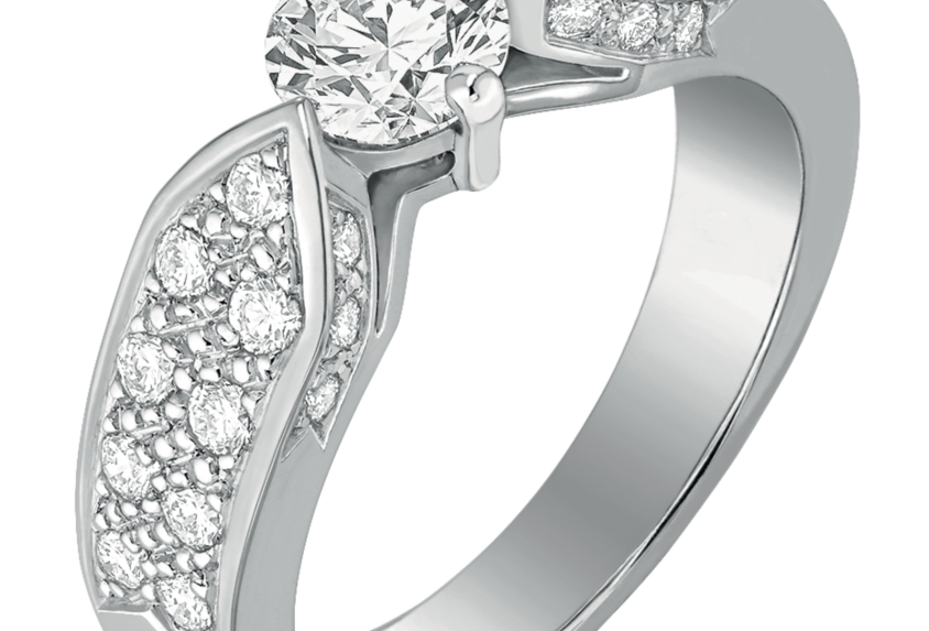 CHAUMET PLUME ENGAGEMENT RING