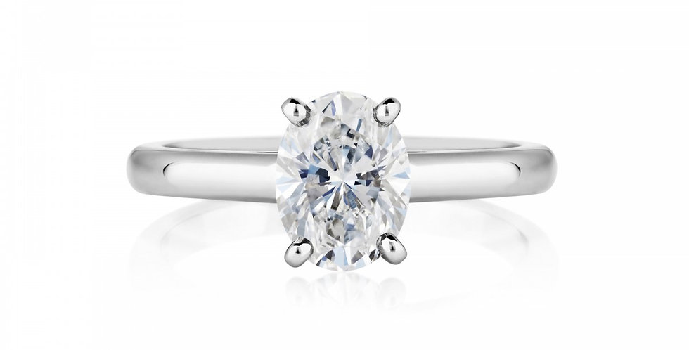 DB CLASSIC OVAL CUT SOLITAIRE RING