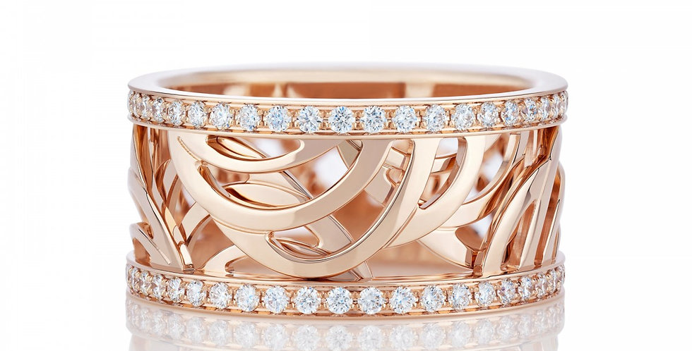 ARIA BAND IN PINK GOLD