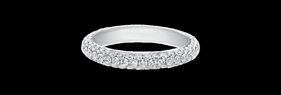 Micropavé Diamond Attraction Wedding Band