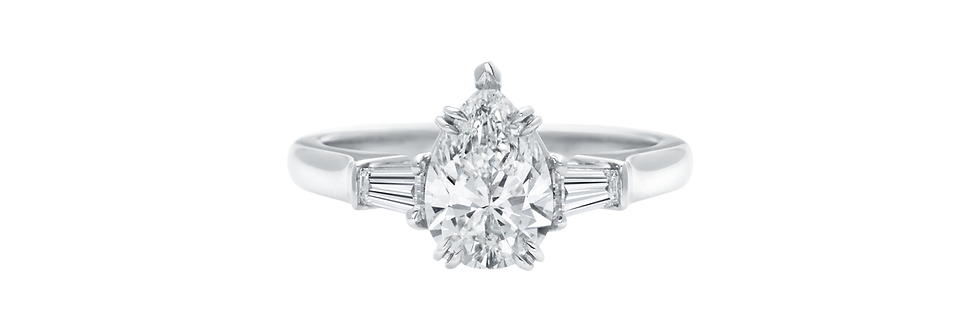 Classic Winston™, Pear-Shaped Engagement Ring