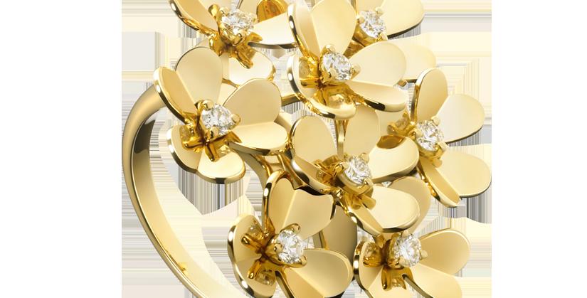 Van Cleef & Arpels Frivole ring, 8 flowers