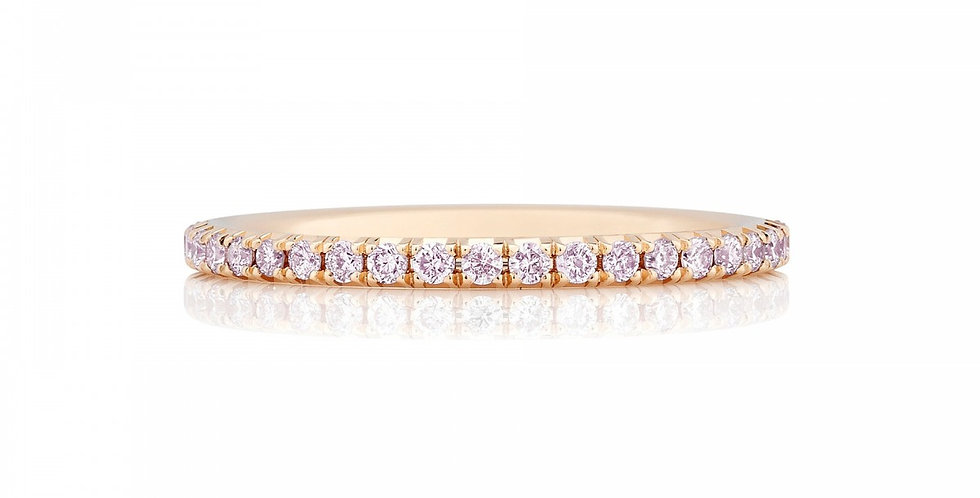 DE BEERS AURA PINK DIAMOND PINK GOLD BAND