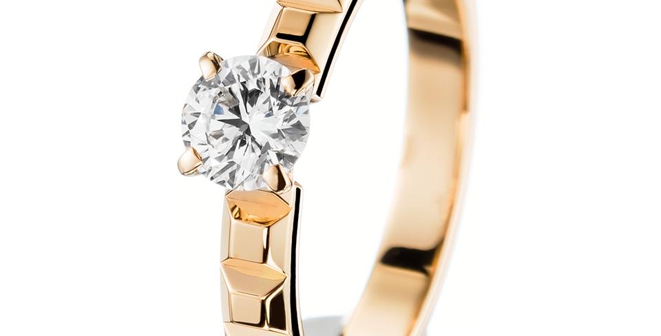 Boucheron Pointe De Diamant Yellow Gold Solitaire