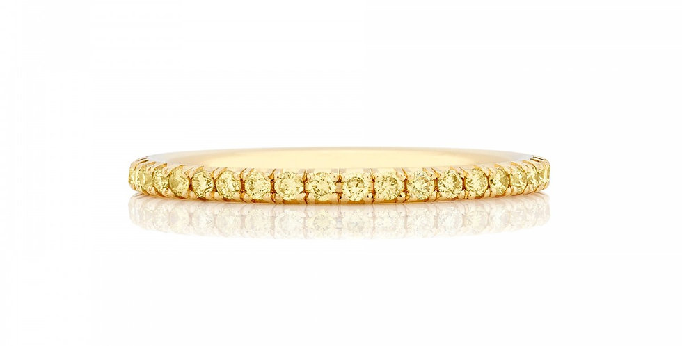 DE BEERS AURA YELLOW DIAMOND YELLOW GOLD BAND