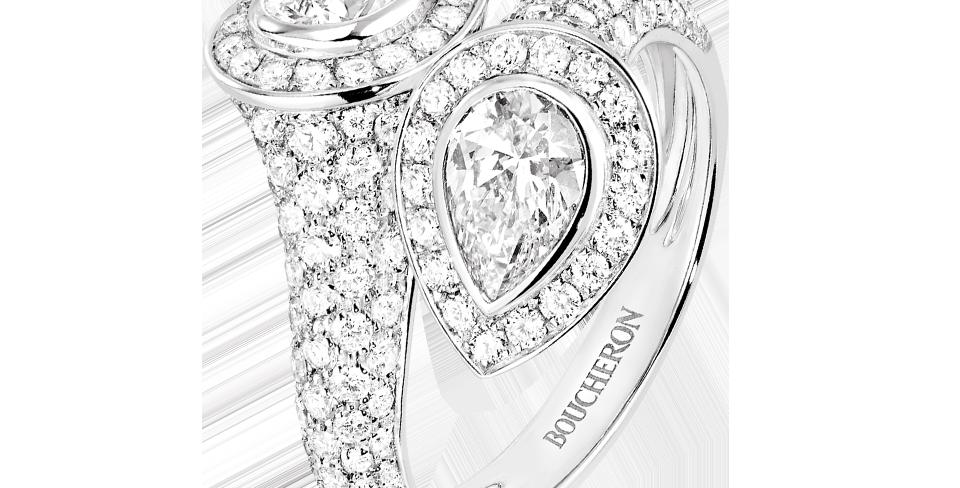 Boucheron Serpent Bohème Toi & Moi Paved Ring