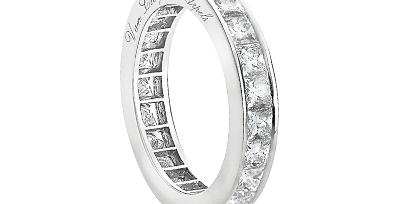 Van Cleef & Arpels Eternity Princess wedding band